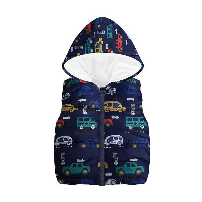 Chaleco de invierno de piel sint/ética con capucha para beb/é
