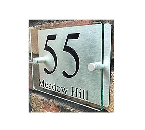 ThedisplayDeal House Number Plaque, Home Address Plate,  8u0026quot;x5u0026quot;x1u0026quot; Size