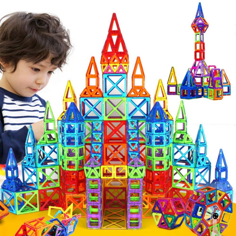 JohnCalbe 100 - 298pcs Mini Magnetic Designer Construction Set Model & Building Toy DIY Magnetic Blocks Educational Toys for Children