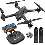 V-6 RC Drone con 1080p FHD 5G Wi-Fi FPV,Altitude,Hold modalità senza testa, Follow Me,RC Quadcopter per adulti Principianti con GPS Auto Return Home (RTH),motore senza spazzola,Punto di interesse-nero
