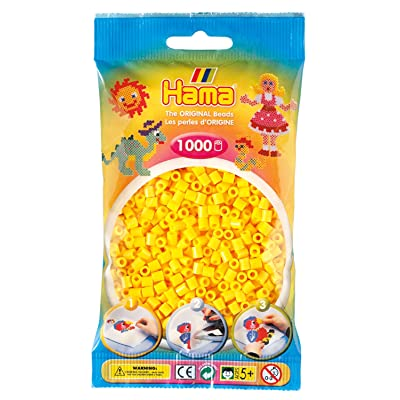 Hama Beads - Yellow (1000 Midi Beads): Toys & Games