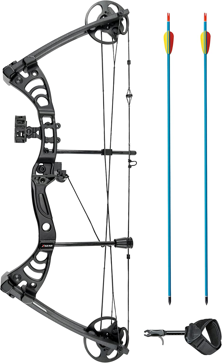 XGear Right Hand Compound Bow 30-55lbs 19 -29 Archery Hunting Equipment with Max Speed 296fps