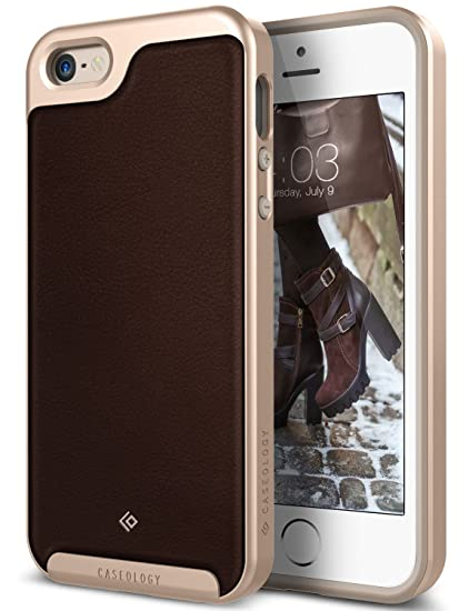 big sale 4723e c2786 Caseology Envoy for iPhone SE / 5S / 5 Case (2016) - Premium Leather -  Leather Brown