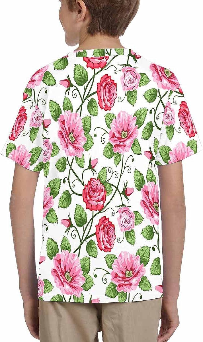 INTERESTPRINT Kids T-Shirts Roses XS-XL