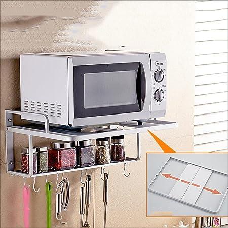 Muebles de cocina Espacio Estante de microondas de aluminio ...