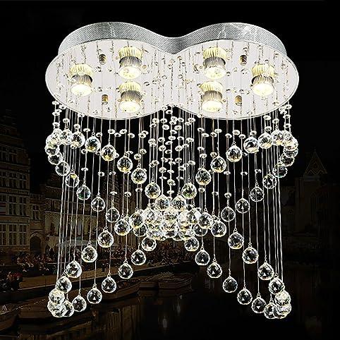 LEDIARY Vanity Pendant Light Butterfly Shape Crystal Spectacular ...
