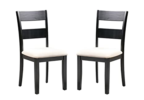 Amazon.com: trithi muebles fullerton- madera maciza negro ...