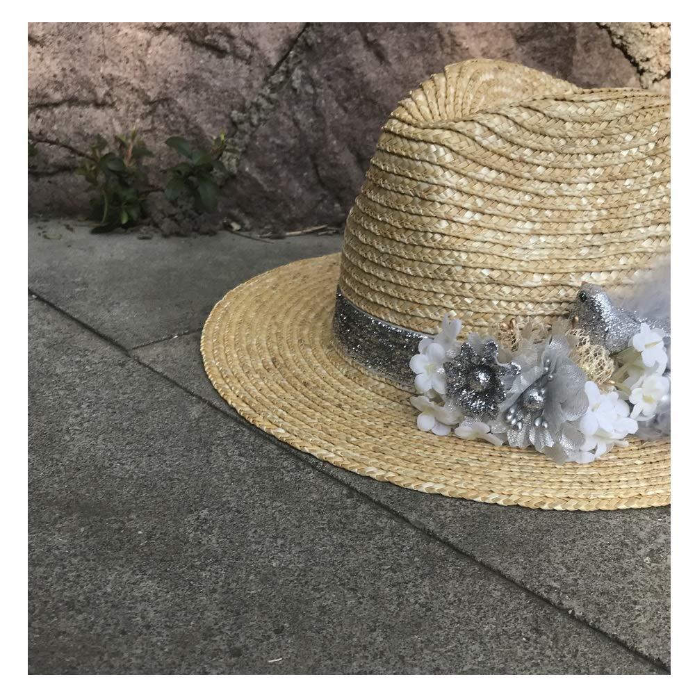 Cute Sun Hat Women Straw Cap Fashion Chic Summer Flower Straw Hat Sunscreen Visor Lady Panama Hat Sun Hats
