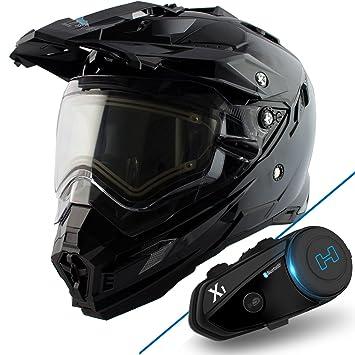 Nieve Master TX-27 DS casco para Moto nieve negro brillante con X-1