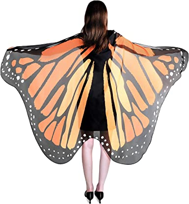 YXwin Halloween Costumes Monarch Butterfly Wing for Women Monarch Butterfly Wing Yellow