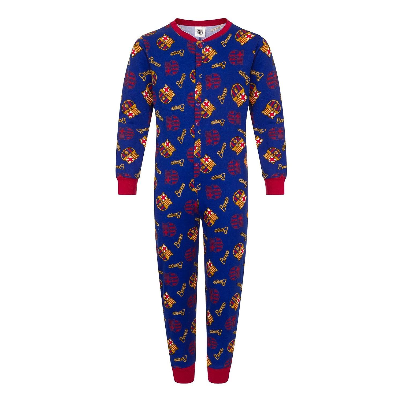 FC Barcelona - Kinder Schlafanzug-Overall - Offizielles Merchandise - Geschenk für Fußballfans