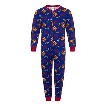 01e21e977e7 FC Barcelona Official Football Gift Boys Kids Pyjama All-In-One Blue 5-