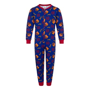 41b19216df0 Amazon.com  FC Barcelona Official Soccer Gift Boys Kids Pajama All-in-One   Clothing