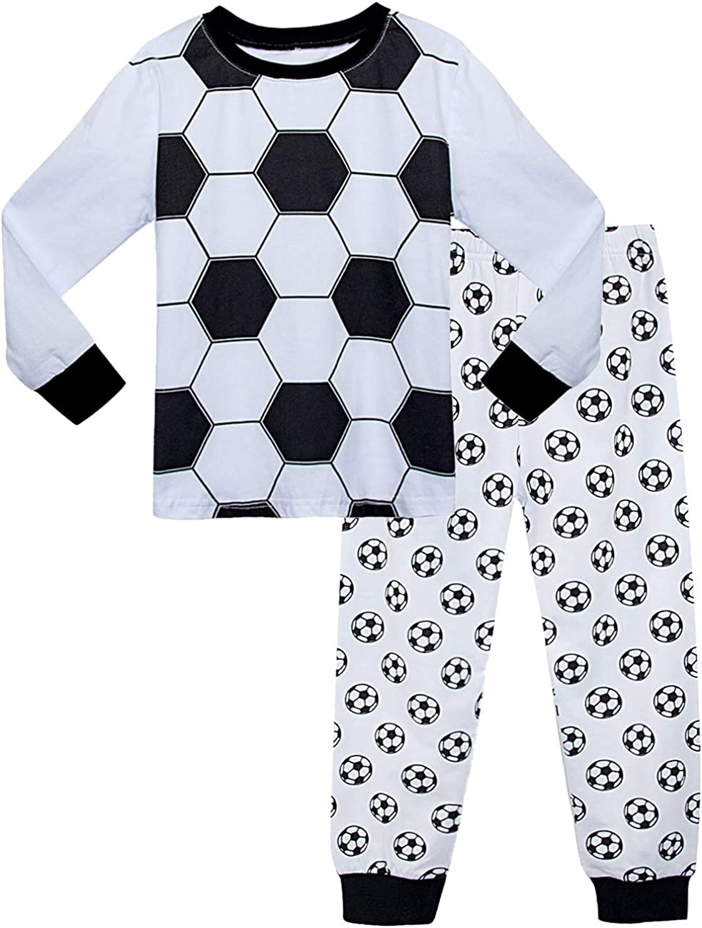 MOMBEBE COSLAND Boys Cotton Pyjamas Set Kids Long Sleeve Pjs Sleepwear 1 to 10 Years