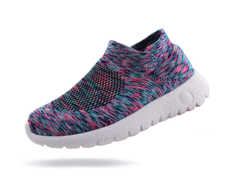 Jabasic Kids Walking Shoes Boys Girls Breathable Slip On Knit Sock Sneakers (Multicolor,1) by Jabasic (Image #2)