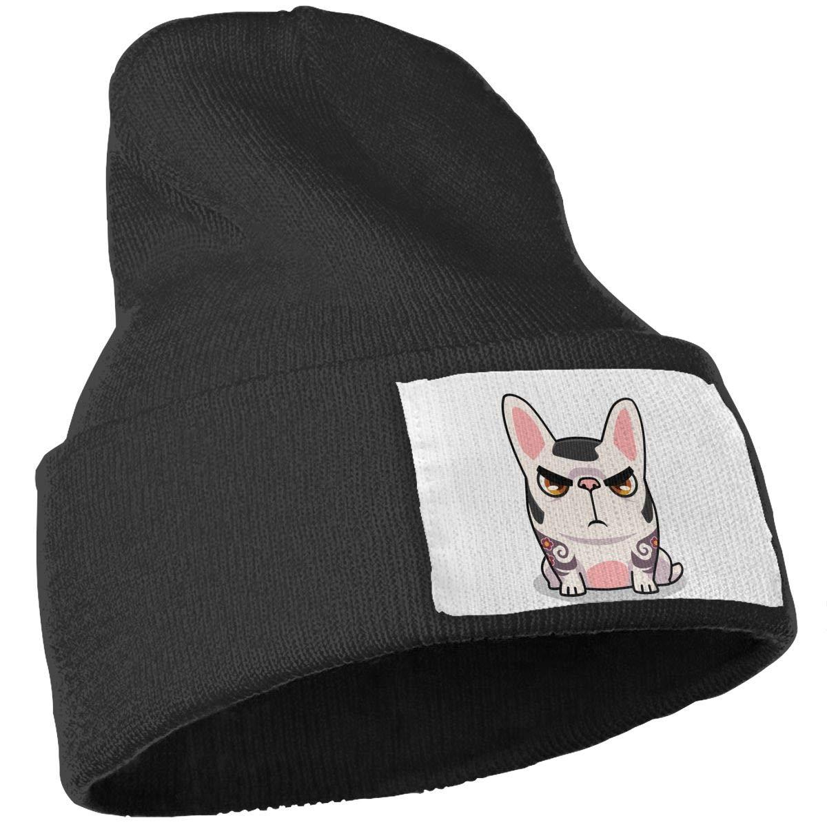 French Bulldog Boss Unisex Fashion Knitted Hat Luxury Hip-Hop Cap