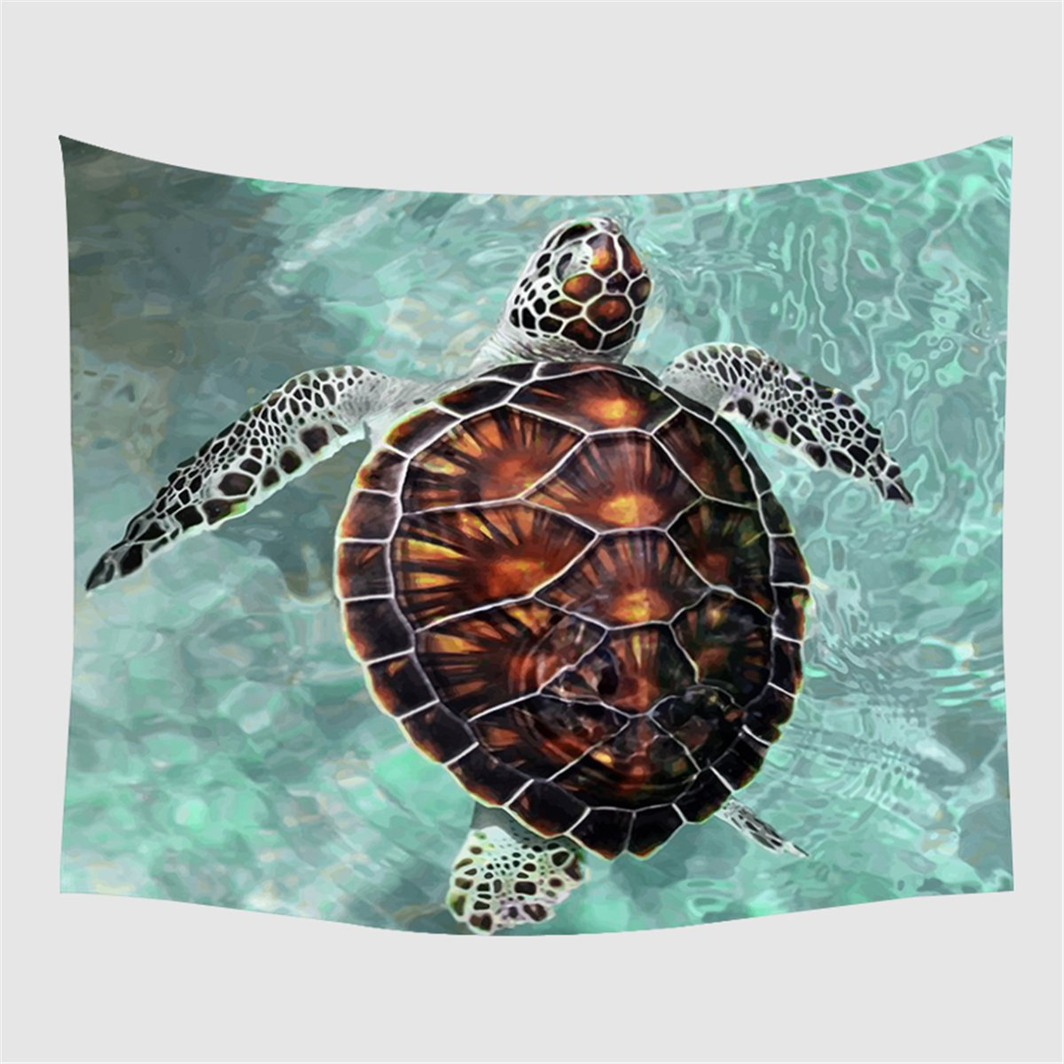 ARIGHTEX Sea Turtle Tapestry Wall Hanging Turquoise Underwater Tapestry Wall Art Decor Wildlife Animal Beach Throw (80''x 60'')