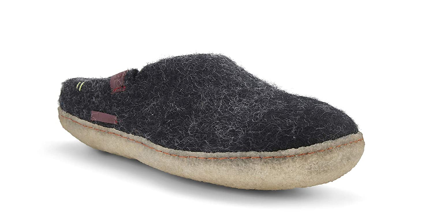 Charcoal With Rubber Sole Glerups AR Rubber shoes