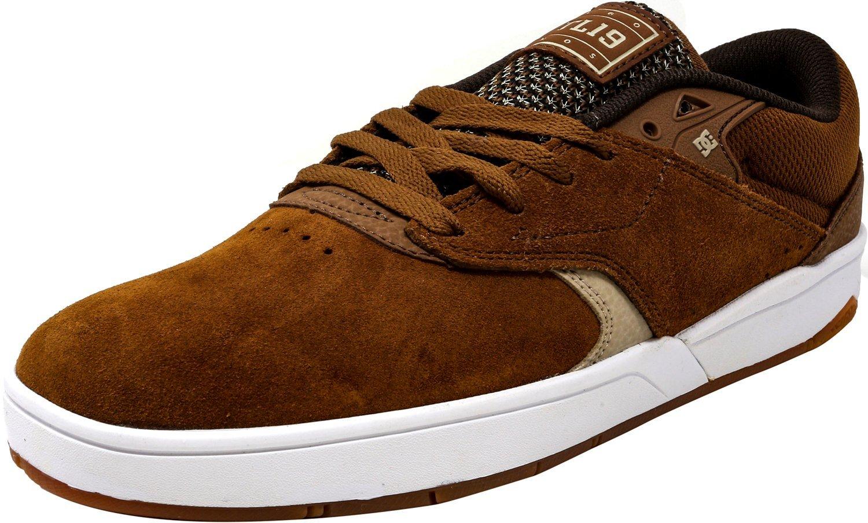 DC Men's Tiago S Ankle-High Suede Skateboarding Shoe 9 D(M) US Brown/Tan