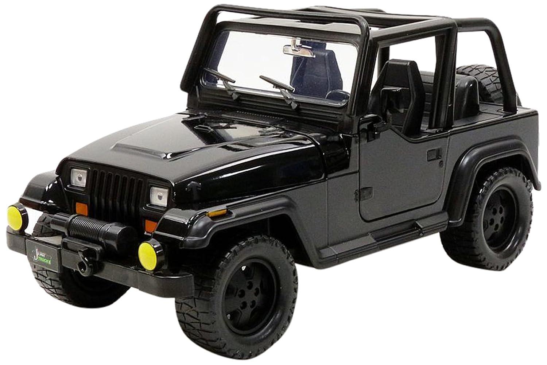 Jada Toys – Wrangler 1992 Jeep Fahrzeug Fahrzeug Fahrzeug Miniatur, 98081bk – 98083bk, Schwarz, Maßstab 1/24 fd3fe0