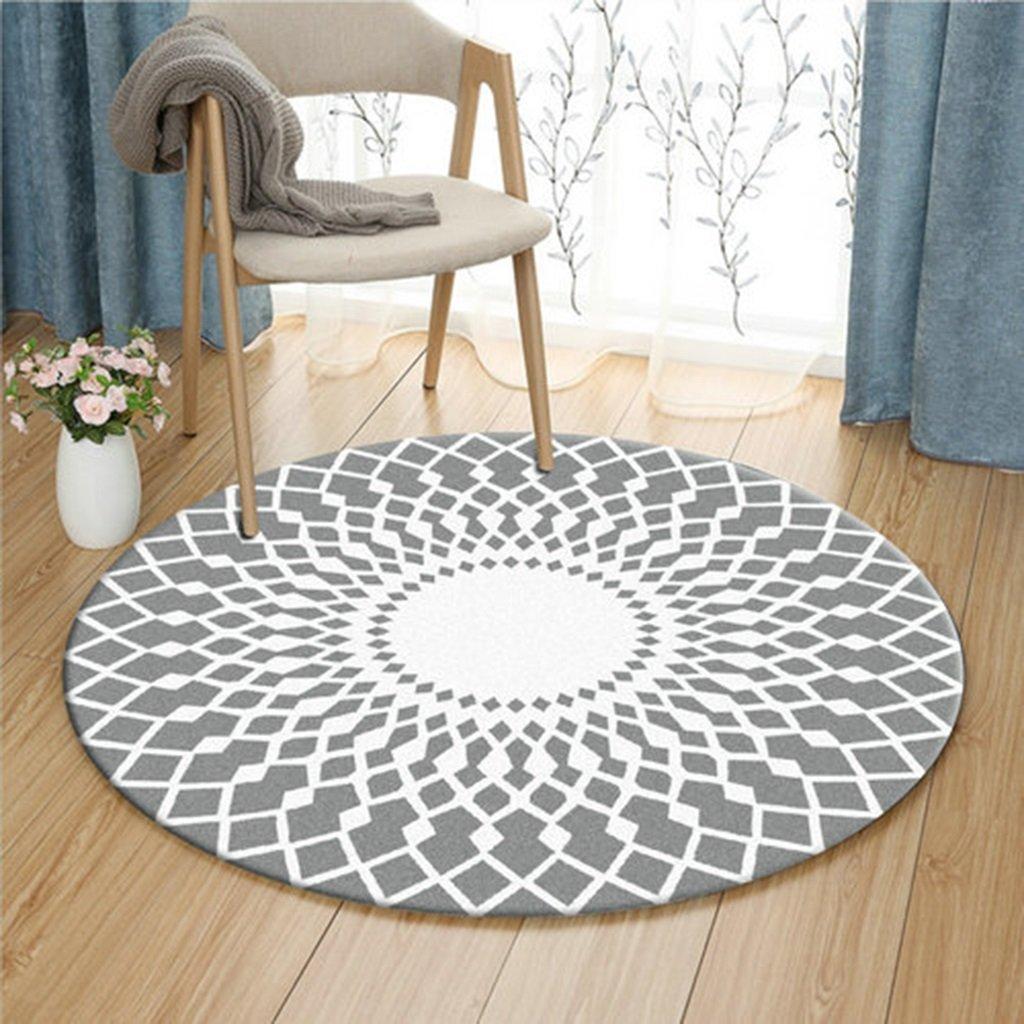 Zhang Xiao Hong Shop Graue und weiße runde Schlafzimmer-Wolldecke-weiches bequemes tragbares einfaches sauberes (Größe   140 cm Diameter)