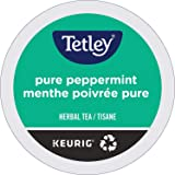 Tetley Pure Peppermint Single Serve Keurig Certified Recyclable K-Cup pods for Keurig Brewers, 96 Count