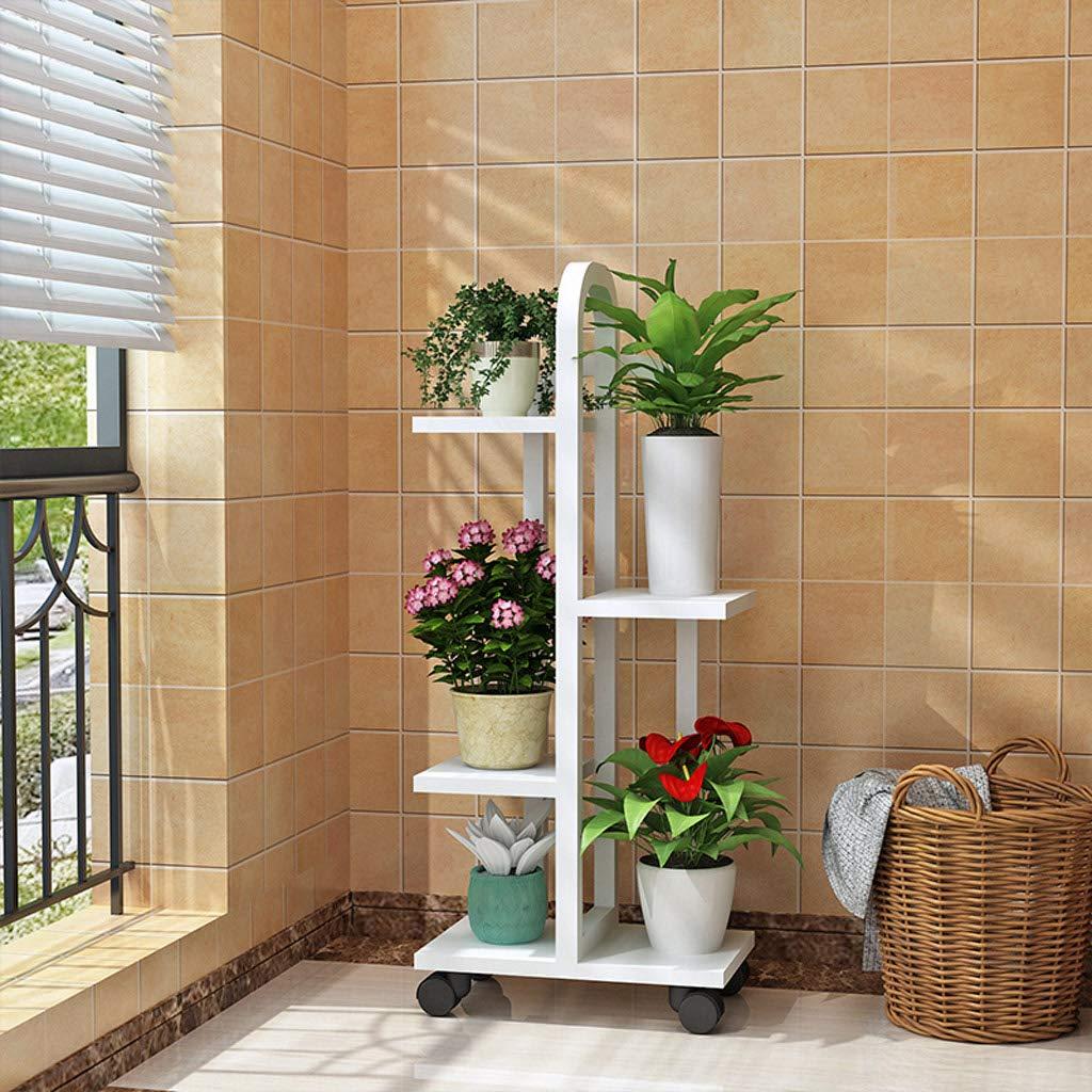 HLJ Fashion Garden Flower Stand Mensola a Fiori Multi-Strato Coperta Balcone Flower Stand Soggiorno Flower Pot Rack
