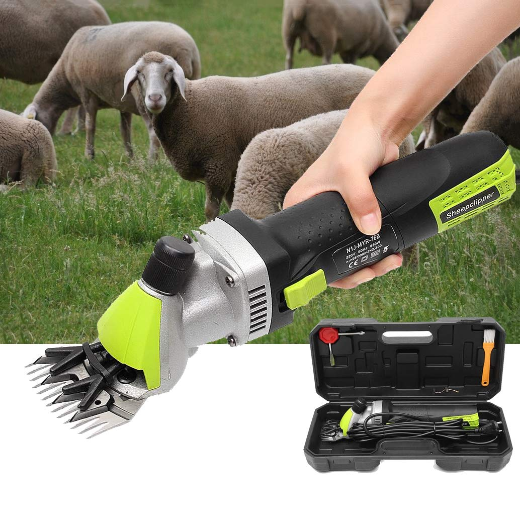 500W Electric Goat Shears with 6 Speed, Grooming Carrying Case, for Cattle Farm Livestock Pet