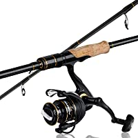 PLUSINNO Elite Hunter 7FT Fishing Rod, IM 6 Graphite Spinning Rod and Casting Rod, Stainless Steel Guides with SiC…
