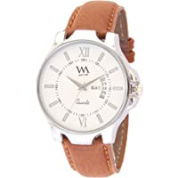 Watch Me White Leather Men's Watch- AWC-018