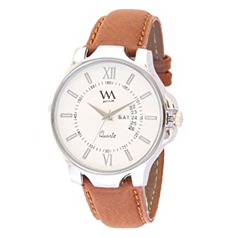 5fe83ea02cf3a Buy Watch Me Analogue White Dial Leather Men s Watch Online at Low ...