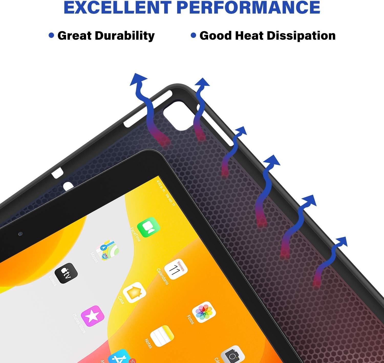 Black Touchpad & 7-Color Backlit Slim PU Leather Keyboard Case for ...