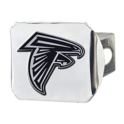 "FANMATS NFL Atlanta Falcons Metal Hitch Cover, Chrome, 2"" Square Type III Hitch Cover: Automotive"