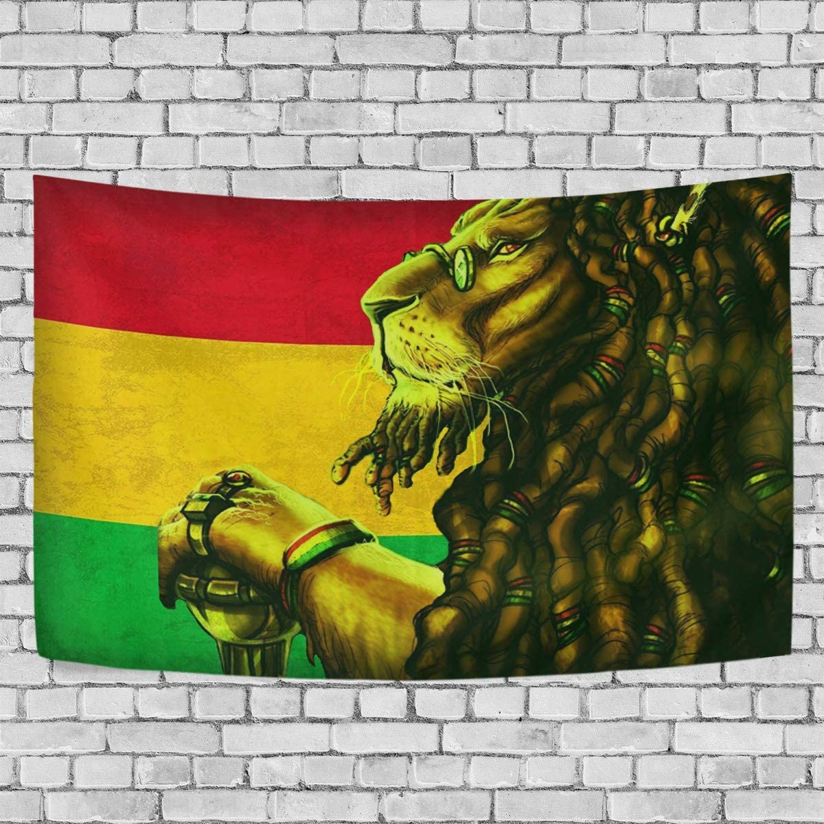 AUISS Tapestry Wall Hanging Leon Rastafari Bedding Wall Blanket Art Room Decor Bedding Rug Bedspread Kids Living Dorm Tablecloth Cover