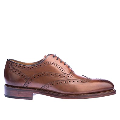 Oliver Sweeney Footwear Oxford Brogue Calf Leather Shoes 7 TAN ISf7SlD
