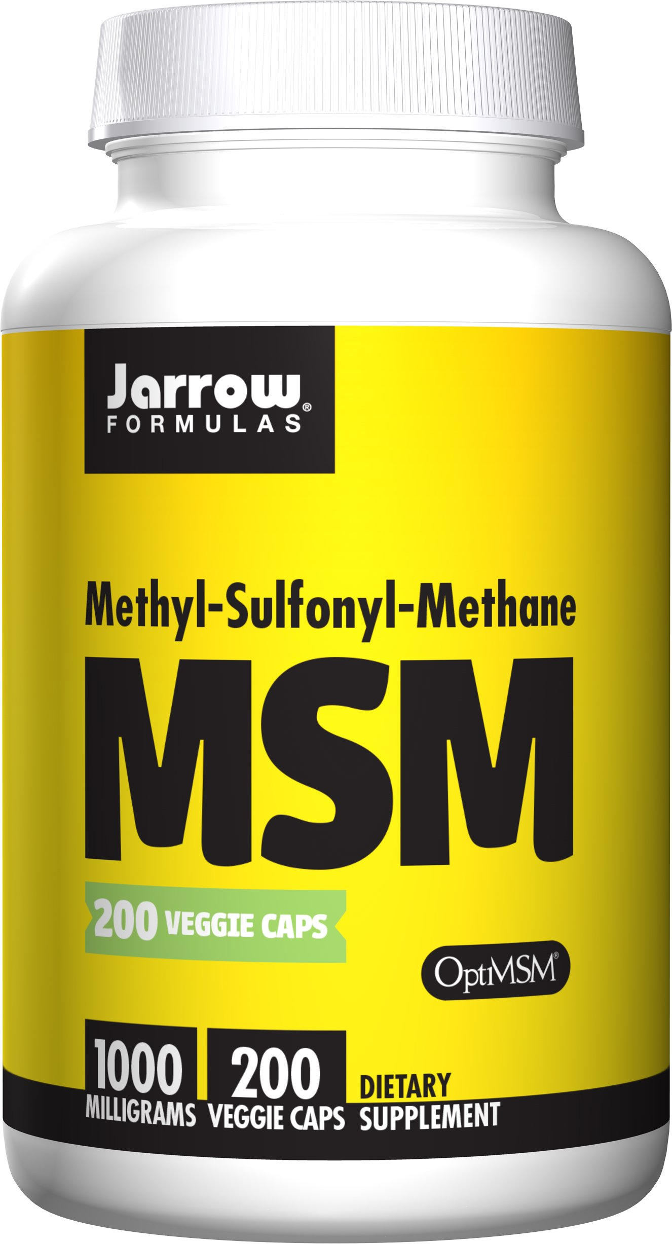 Jarrow Formulas MSM, A Bioavailable Source of Sulfur, with Antioxidant and Protein-Building Functions*, 1000 mg, 200 Veggie Capsules by Jarrow Formulas