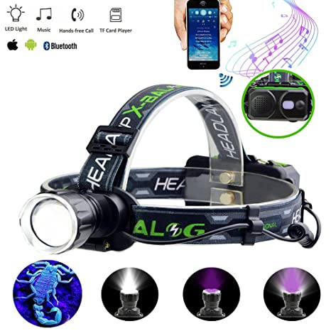 Amazon.com: LED Rechargeable Headlamp flashlight With ...