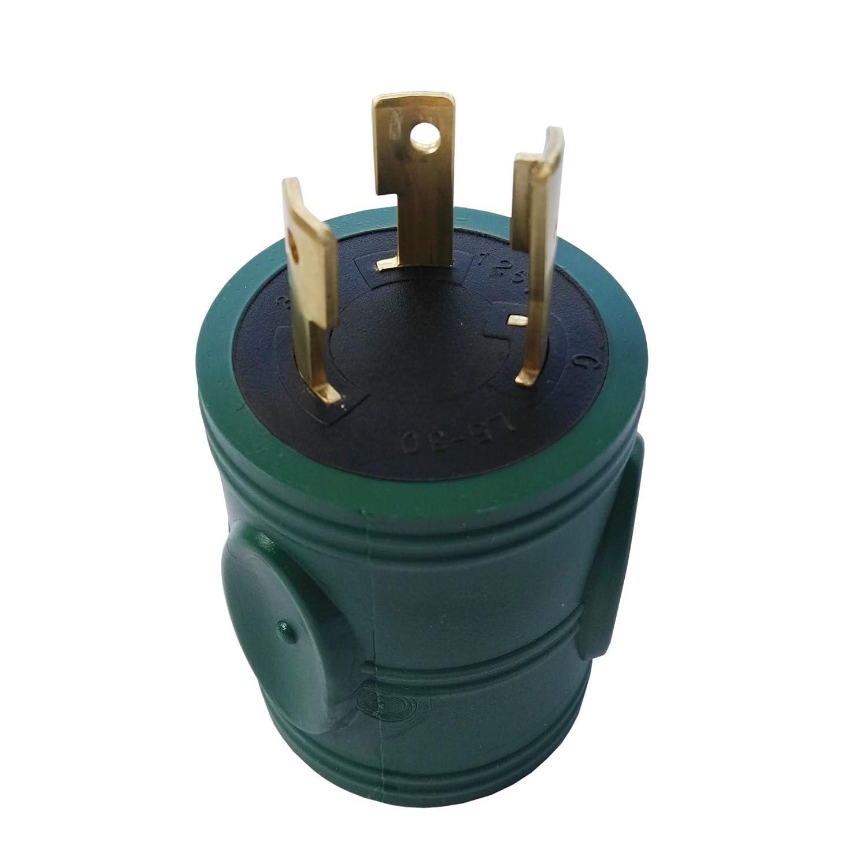 Parkworld 885033 Generator 30 AMP Adapter Cord L5-30 Plug to L14-30 Receptacle