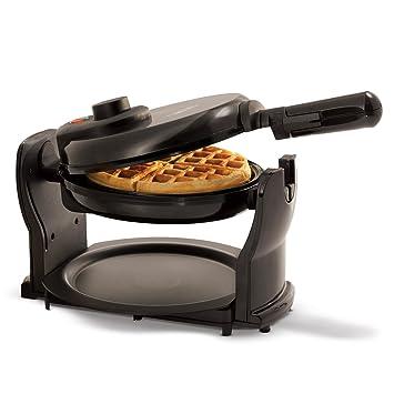 Elegant BELLA Rotating Belgian Waffle Maker, Pro Black