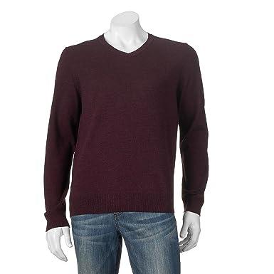 Apt 9 Men\'s Big & Tall Modern Fit Merino V-neck Sweater at Amazon ...