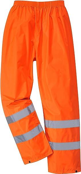 Portwest H441 - Hi-Vis Pantalón de lluvia, color naranja, talla XXL