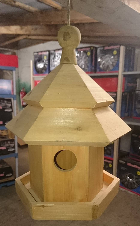 Casa de pájaros Madera H: aprox. 34 cm Jardín Terraza Pájaros Forro 11078: Amazon.es: Productos para mascotas