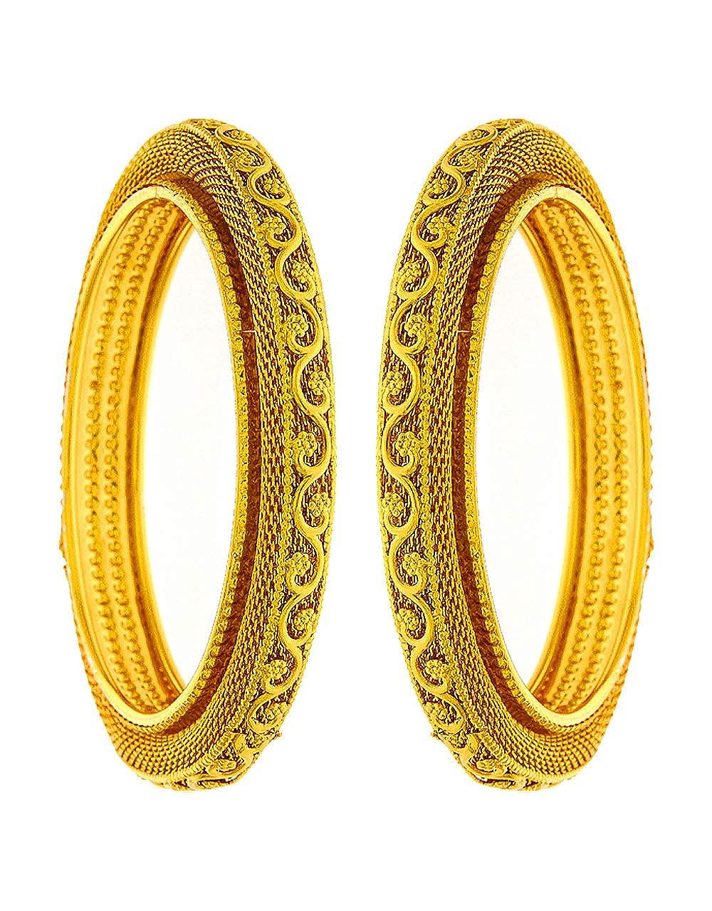 Anuradha Art Golden Colour Adorable Stylish Classy Traditional Bangles Set for Women//Girls