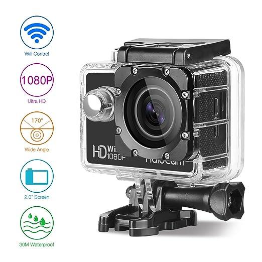 4 opinioni per Halocam WiFi Connect sport Action Camera ultra HD 12MP 1080p impermeabile DV