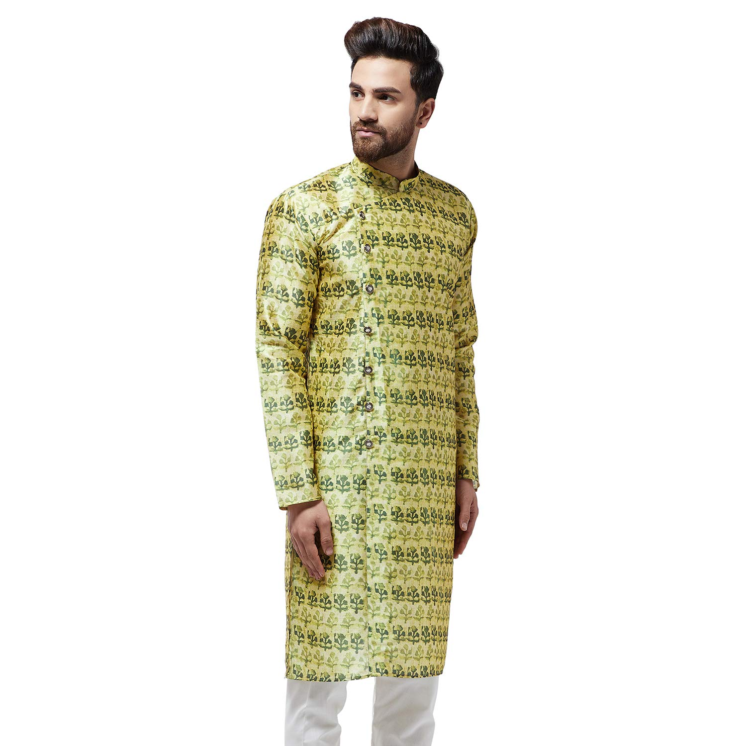 Festival-Men-Dupion-Silk-Kurta-Pajama-Ethnic-Party-Wear-Bollywood-Dress-Pyjama thumbnail 22