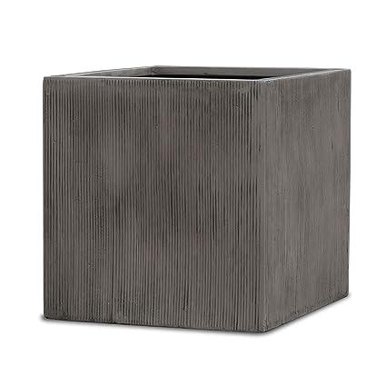 Amazon.com: Maceta cuadrada de cemento con forma de cubo ...