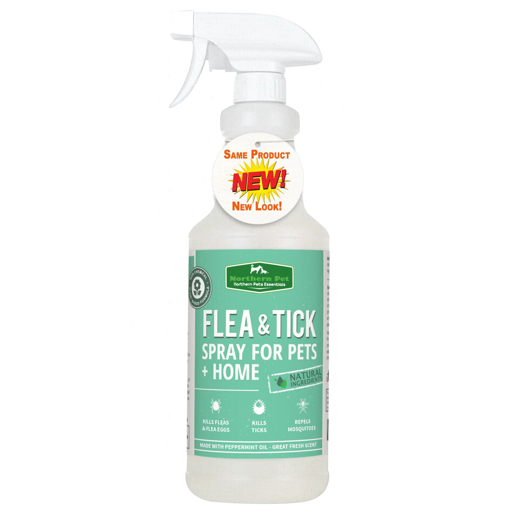 Natural Flea & Tick Control Spray For Dogs and Home Use - Kills Fleas, Ticks and Mosquitoes on Contact - by Northern Pet (32 OZ)