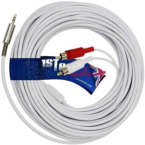 1STec® - 10m Cable de audio estéreo de 3,5 mm o 1/8