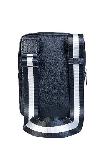 ... Amazon.com Versace Jeans E1YRBB 3270088 Metal Logo Black Leather Side  Bag One Size Shoes ... 43895f013ebb1