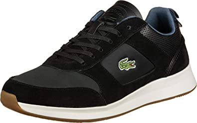 fb27cd8dd8 Lacoste Joggeur 418 1 Chaussures Black/Navy: Amazon.fr: Chaussures ...
